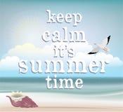 Affiche d'heure d'été Image stock
