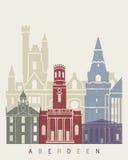 Affiche d'horizon d'Aberdeen Photos stock