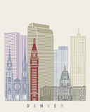 Affiche d'horizon de Denver illustration stock