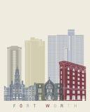 Affiche d'horizon de Fort Worth illustration de vecteur