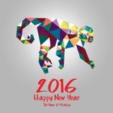 affiche d'illustration de 2016 bonnes années Année de singe Photos stock