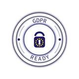 Affiche d'insigne de GDPR Image libre de droits