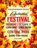 Affiche d'invitation de festival de partie de vecteur d'automne Image stock
