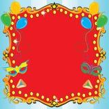 Affiche d'invitation de réception de carnaval de Purim Image stock