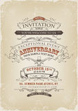 Affiche d'invitation de vintage Image libre de droits