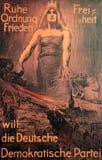 Affiche 1919 d'élection d'Allemand Photo stock