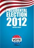 Affiche d'élection présidentielle Photographie stock libre de droits