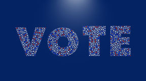 Affiche d'élection présidentielle des Etats-Unis Images stock