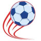 Affiche de ballon de football image libre de droits