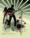 Affiche, de band van het rotsfestival stock illustratie