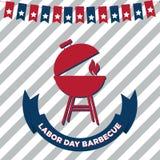 Affiche de barbecue de Fête du travail Illustration de Vecteur