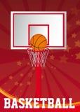 Affiche de basket-ball Photographie stock libre de droits