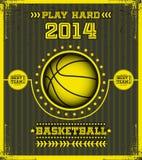 Affiche de basket-ball. Photographie stock libre de droits