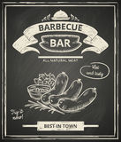 Affiche de BBQ illustration stock