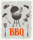 Affiche de BBQ Illustration de vecteur illustration de vecteur