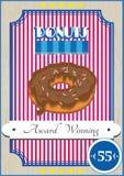 Affiche de beignet Images libres de droits