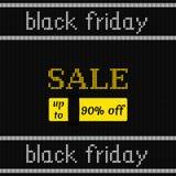 Affiche de Black Friday sur la texture tricotée Illustration de vecteur Image libre de droits