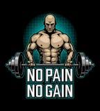 Affiche de bodybuilding avec l'homme de muscle illustration stock