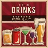 Affiche de boissons de cru illustration de vecteur