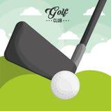 Affiche de boule de club de golf illustration de vecteur
