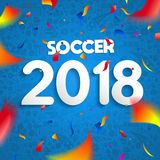 affiche 2018 de célébration de partie du championnat du football Photographie stock libre de droits