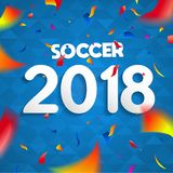 affiche 2018 de célébration de partie du championnat du football Photos libres de droits