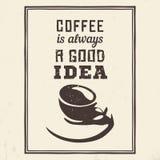 Affiche de café illustration stock
