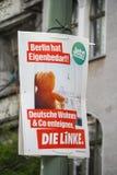 Affiche de campagne électorale de matrice Linke, parti politique allemand photos stock