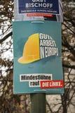 Affiche de campagne ?lectorale de matrice Linke, parti politique allemand photographie stock libre de droits