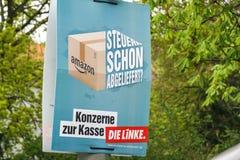 Affiche de campagne ?lectorale de matrice Linke, parti politique allemand photo stock