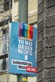 Affiche de campagne ?lectorale de matrice Linke, parti politique allemand photos libres de droits
