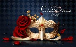 Affiche de carnaval de Venise Photos libres de droits