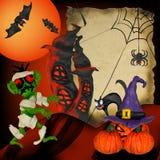 Affiche de carte de voeux de pâte à modeler de Halloween Photographie stock