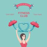 Affiche de centre de fitness Photos libres de droits
