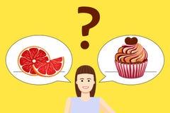 Affiche de choix de régime de fille illustration stock