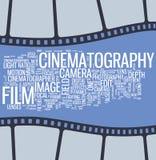 Affiche de cinéma Photographie stock libre de droits