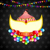 Affiche de cirque de cru Images libres de droits