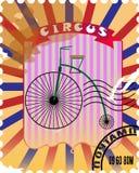Affiche de cirque de timbre-poste illustration de vecteur