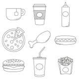Affiche de collection de logo de nourriture industrielle Photos libres de droits