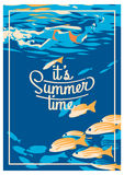 Affiche de colonie de vacances d'été et de vacances illustration libre de droits