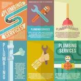 Affiche de composition en icônes de tuyauterie illustration libre de droits