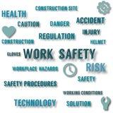 Affiche de concept de sécurité de travail illustration libre de droits