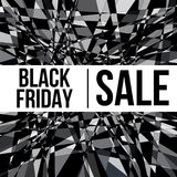 Affiche de conception de vente de BLACK FRIDAY Photographie stock libre de droits