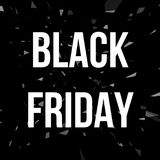 Affiche de conception de vente de BLACK FRIDAY Photo stock