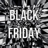 Affiche de conception de vente de BLACK FRIDAY Images libres de droits