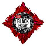 Affiche de conception de vente de BLACK FRIDAY Image libre de droits