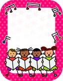 Affiche de concert d'enfants illustration stock