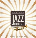 Affiche de concert de jazz illustration libre de droits