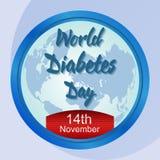 Affiche de conscience de jour de diabète du monde Photographie stock libre de droits