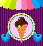 Affiche de crème glacée  Image stock